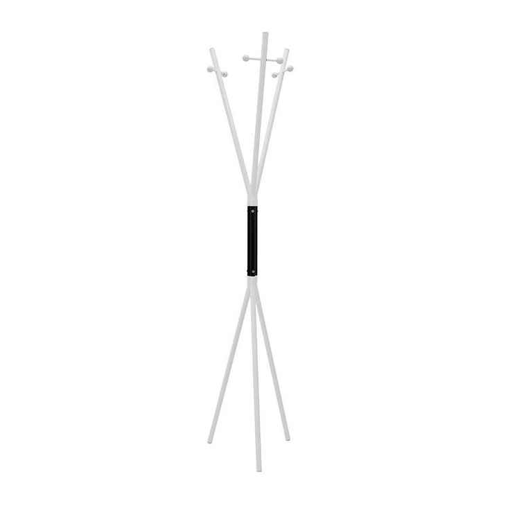 METAL COAT HANGER IN WHITE-BLACK COLOR 38X38X170 - Coat Hangers - FURNITURE