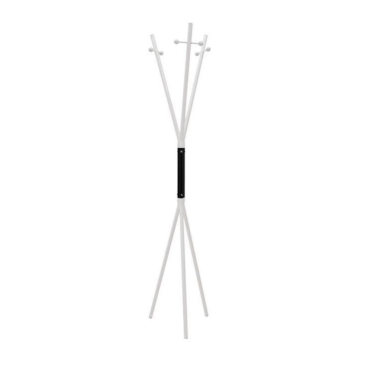 METAL COAT HANGER IN WHITE-BLACK COLOR 38X38X170 - Coat Hangers - FURNITURE
