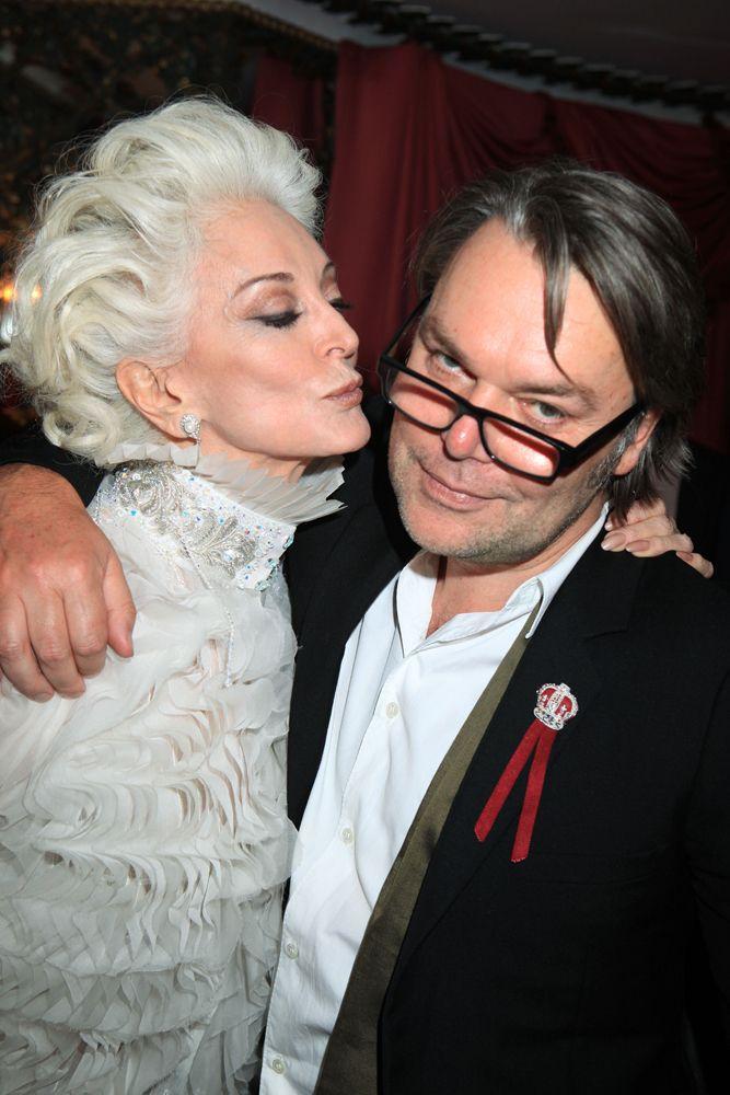 Carmen Dell'Orefice and David Downton