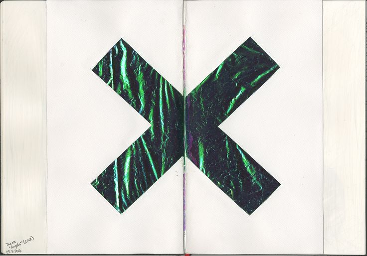 The XX album cover art mixed media collage by Karoliina Pärnänen, 2016.