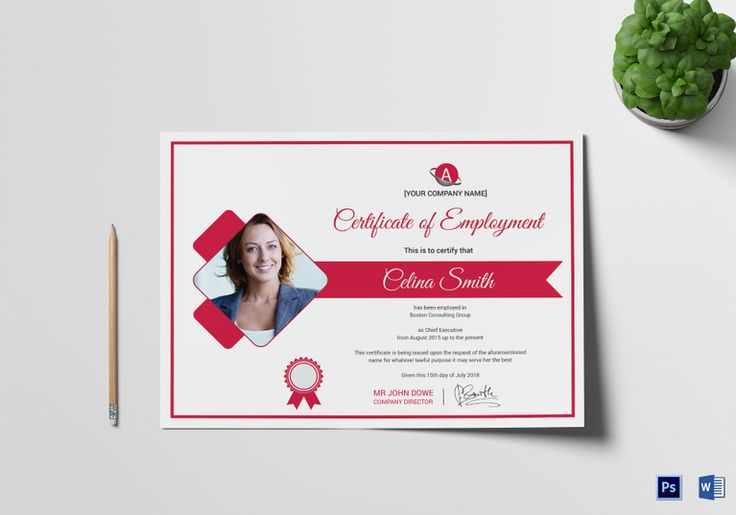 Casual Employment Certificate Template  $12  Formats Included : MS Word, Photoshop  File Size : 11.69x8.26 Inchs #Certificates #Certificatedesigns #Employmentcertificates