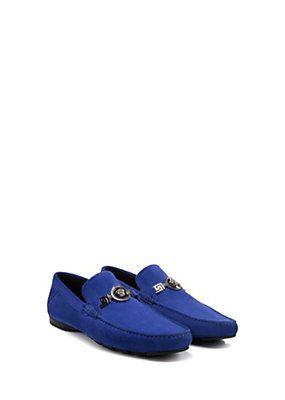 Versace - Suede Signature Driver Shoes