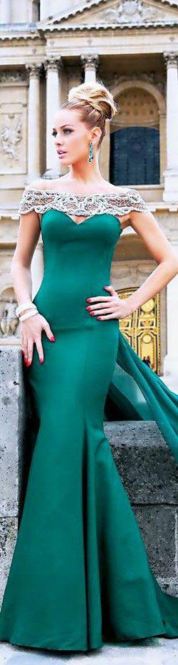 Green sexy prom dress,mermaid prom dress. Re-pin if you like.