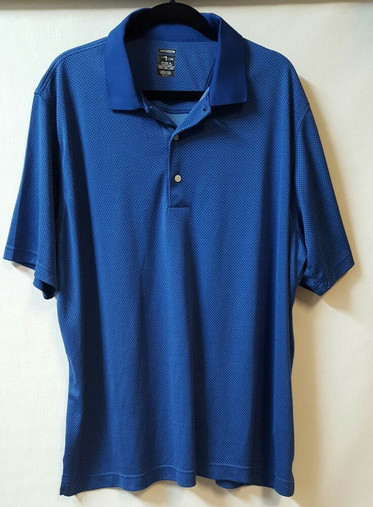 2a1e6229b Page & Tuttle Sz 2XL Blue Polo Shirt Golf Cool Swing 100% Polyester  #PageTuttle