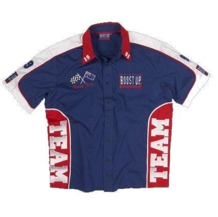 Custom Pit Crew Shirt - Boostup is leader in Custom jackets, shirts, t-shirts & other clothing. Visit us for Promotional clothing needs.