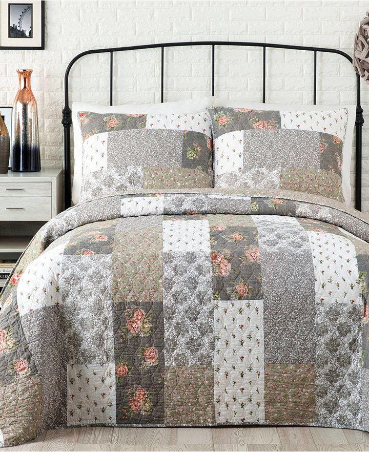 Jessica Simpson Floribunda Cotton Full/Queen Quilt Bedding