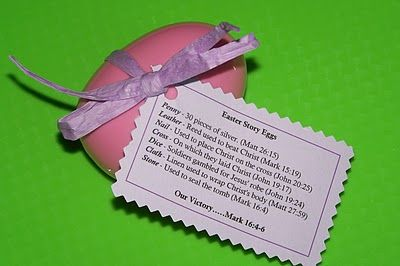 Easter story egg, This is a great idea for Kingdom Quest at church, or the older pre-schoolers.  Love it!!!!
