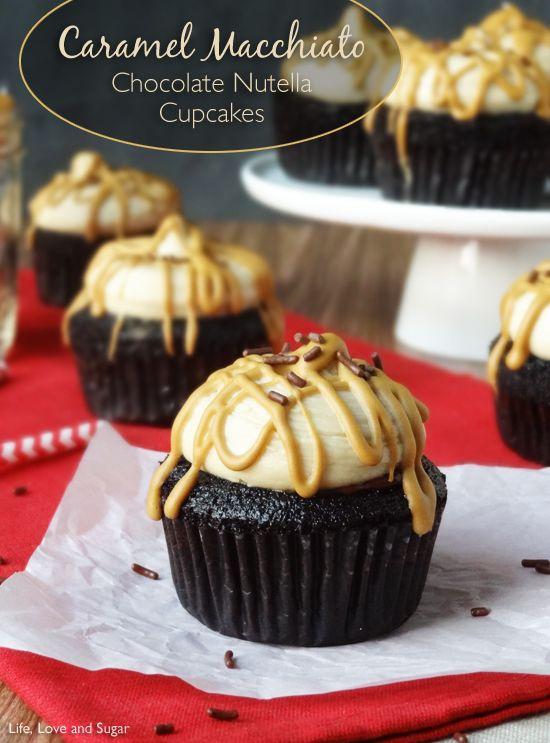 Caramel Macchiato Chocolate Nutella Cupcakes