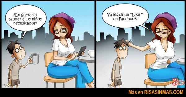 Un uso del like en Facebook