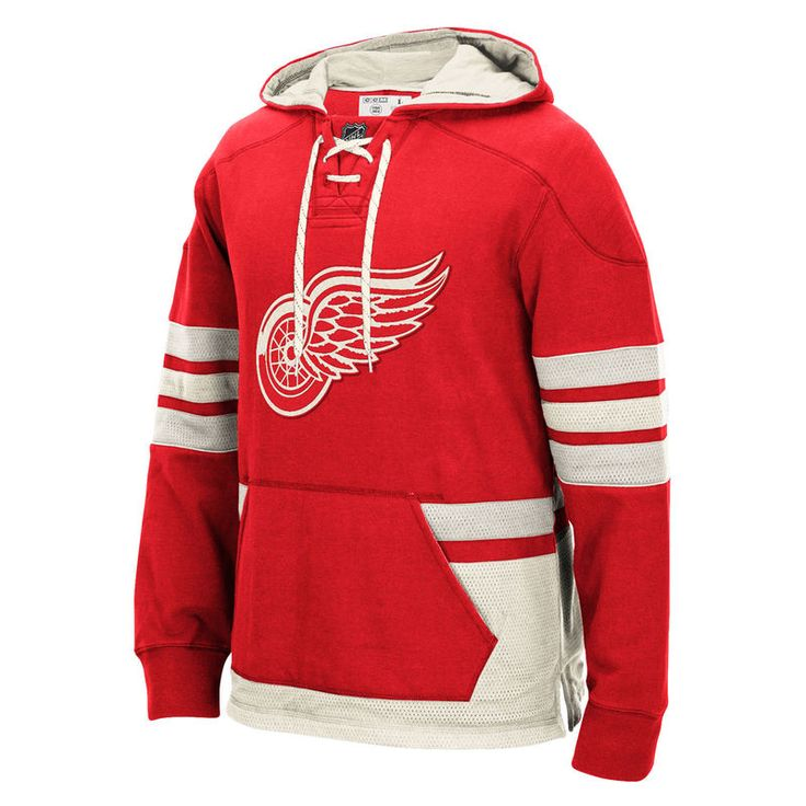 Detroit Red Wings CCM Pullover Hoodie - Red