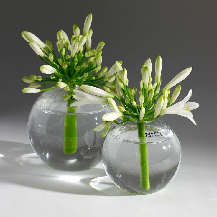 Kugelvase aus Glas in zwei Größen von Serax / Heimelig-Shop