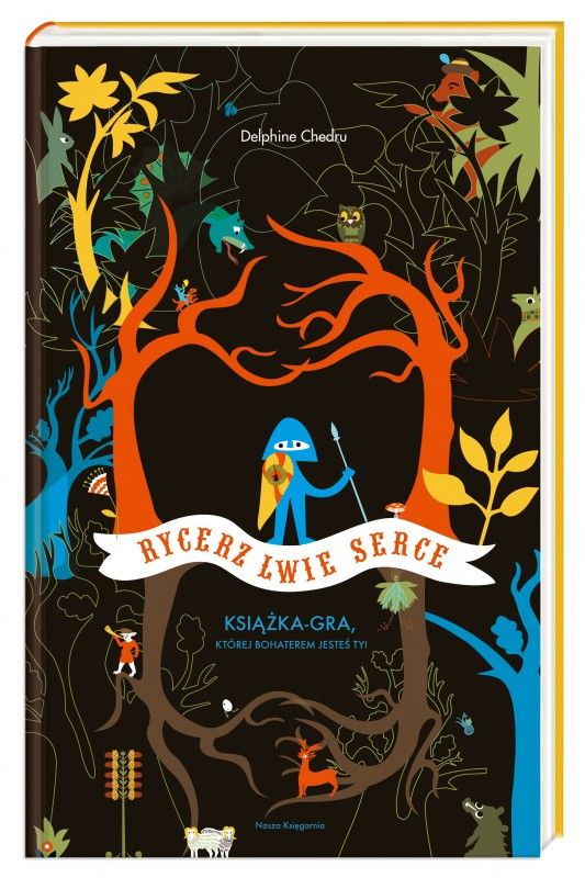 Tajemnicza książka-łamigłówka dla młodszych dzieci, którą pokochał już cały świat!      To jest książka. Ale też gra, w której tylko od ciebie zależy, czy nieustraszony rycerz Lwie Serce odzyska utraconą odwagę. Rozwiązuj zagadki, odpowiadaj na pytania, decyduj, jaką drogą podąży twój bohater. Ma pójść czerwonymi schodami? Czy zaufać syrenie? Każdy wybór...