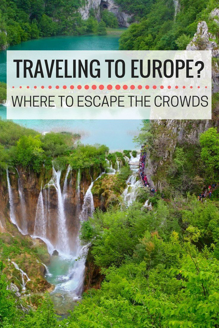 Traveling Europe this Summer Where to Get Away from the Crowds. Here are some great destinations to enjoy Europe without the busy crowds, including Goreme, Turkey, Snæfellsjökull National Park in Iceland, Mont Saint Michel in France, Lake Maggiore in Italy. Plitvice Lakes National Park in Croatia and Cuenca in Spain | Europe off the Beaten Track | Europe avoid crowds | non-touristy Europe