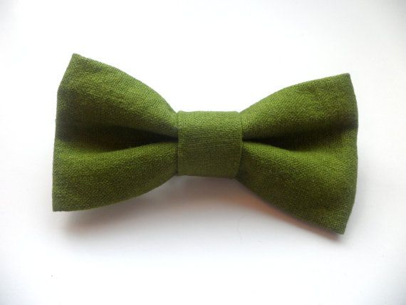 For the ring boy / bearer? Customer Favorite:  Solid Olive Green Linen Clip On Bow Tie for Boys and Men