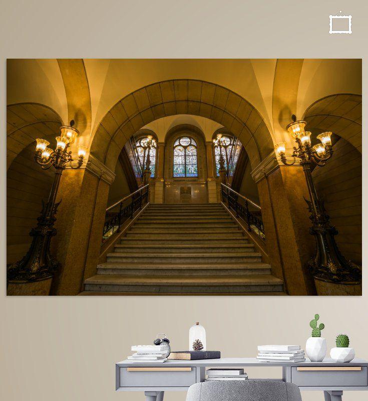 De trappen in het stadhuis van Rotterdam van MS Fotografie