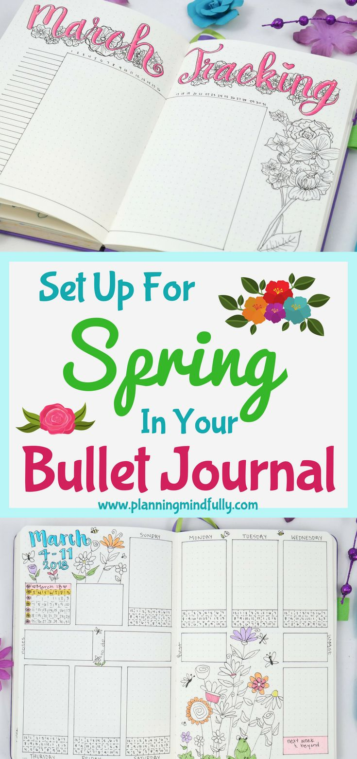 Bullet journal ideas for spring that will satisfy your soul and help you get organized in a fun way!