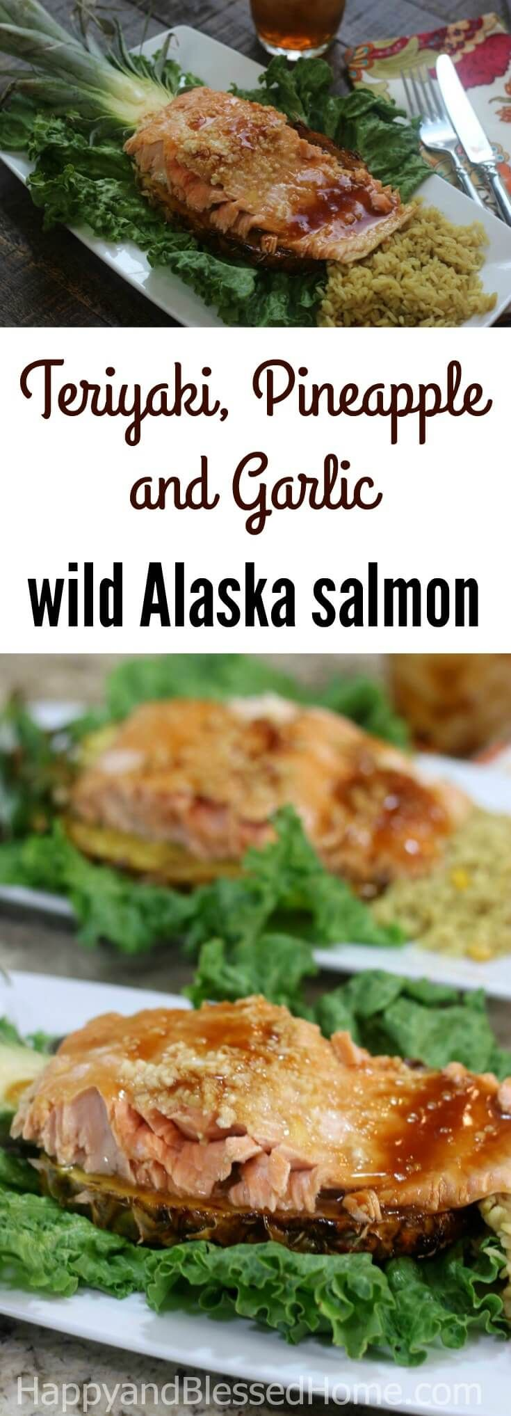 Why wait to send your taste buds on a tropical vacation? Just make this wild Alaska salmon with Teriyaki and Pineapple recipe. It balances the sweetness of pineapple with the tanginess of teriyaki and includes a minced garlic kick. Perfect for lunch or dinner. ad #AskForAlaska