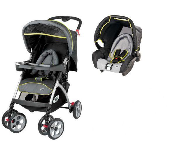 BABY RELAX Poussette bébé Pack Duo EMOJI - Noir et Gri prix promo Carrefour.fr 159.00 € TTC