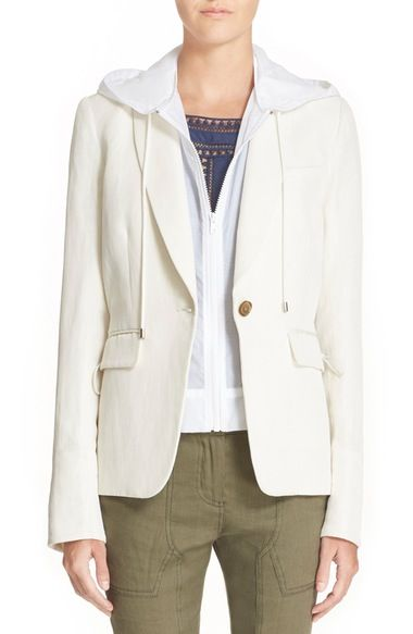 Veronica Beard 'Prairie' Parka Back Blazer with Removable Hooded Dickey available at #Nordstrom