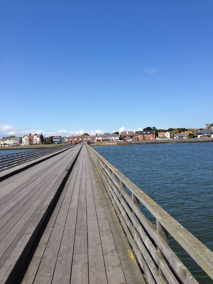 The wooden bridge to the Bull Island in Clontarf, Dublin