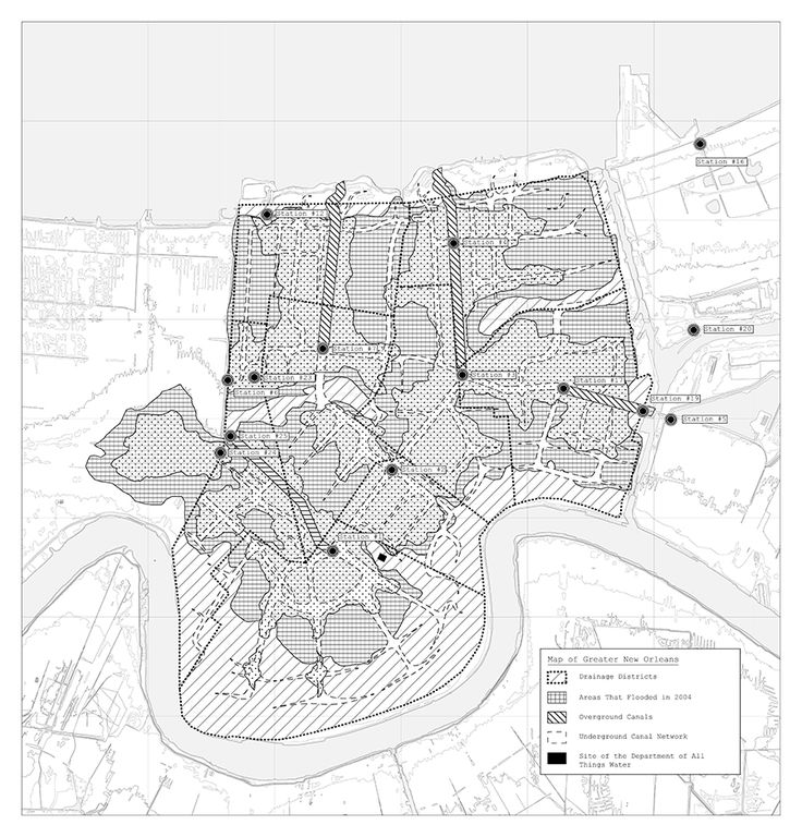 The Department of All Things Water, Map of Greater New OrleansChristina Shivers2014