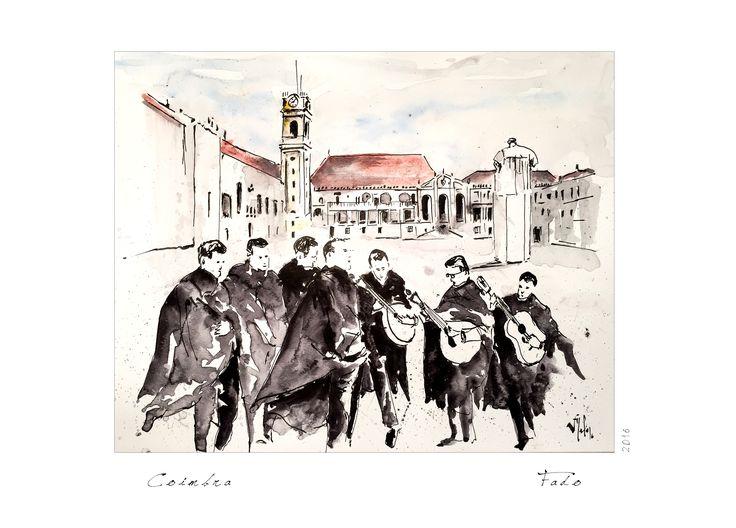 Victor Melo ~ Sketch ~ Fado ~ Universidade ~ Coimbra