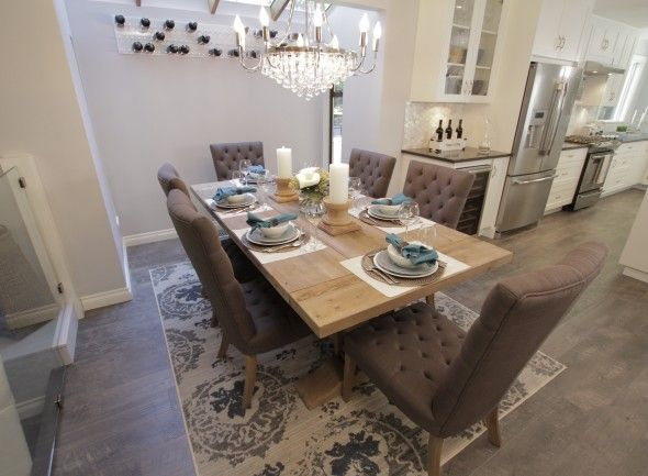 Season 3 episode 20 danielle chad the scott for Property brothers dining room designs