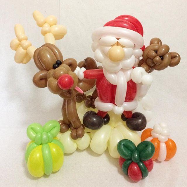 クリスマスアドベントカレンダー/Christmas Advert Calendar [12/25] Santa Claus Is Coming To Town 【Merry Christmas and Happy Holiday】 #クリスマスアドベントカレンダー #クリスマス #サンタ #サンタクロース #トナカイ #赤鼻のトナカイ #テディベア #プレゼント #バルーンアート #christmasadventcalendar #christmas #santa #santaclaus #raindeer #teddybear #christmaspresent #balloonart #balloontwisting