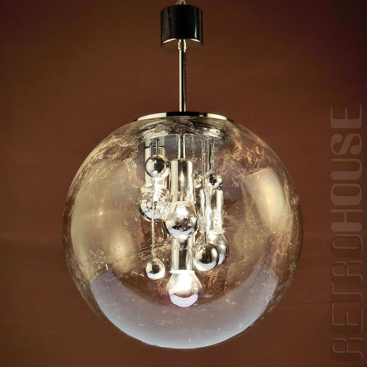 XL Hollywood Regency Chandelier Pendant Lamp Sputnik Globe by Doria Mid Century | eBay