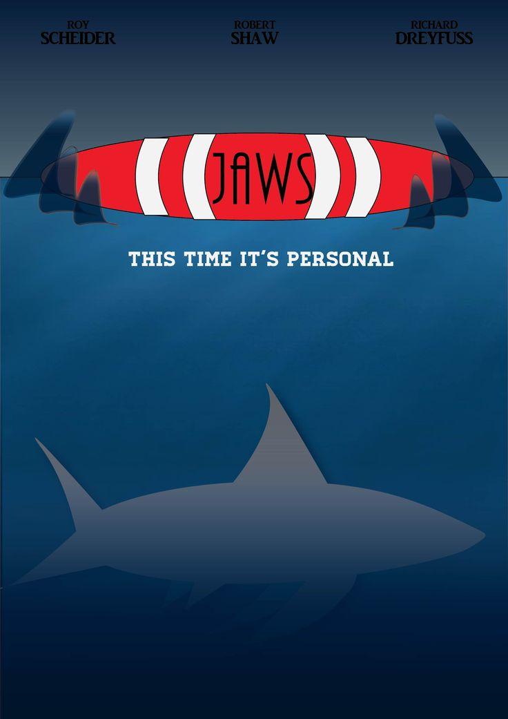 """Skoleopgave i Illustrator, hvor opgaven gik ud på at lave en film-plakat i Illustrator. Jeg valgte at arbejde med""""Jaws"""""""