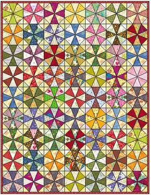 Arrowhead Puzzle Quilt Block Pattern | FaveQuilts.com Not 1 curved piece ;)