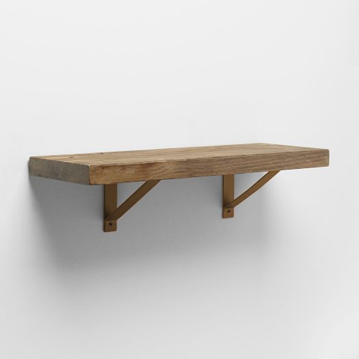 98 reclaimed wood shelf basic brackets west elm 4u0027