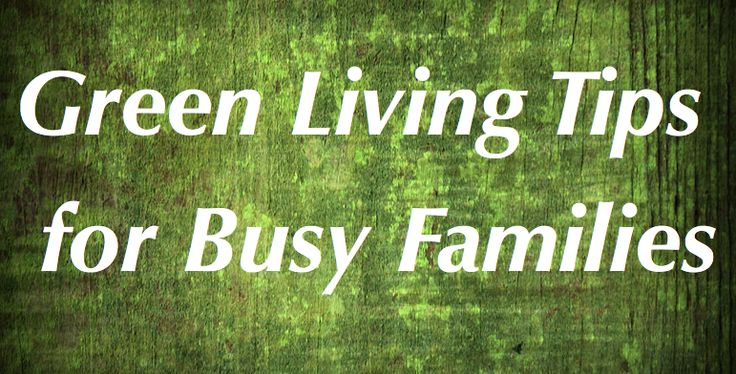 Green Living Tips for Families on the Go