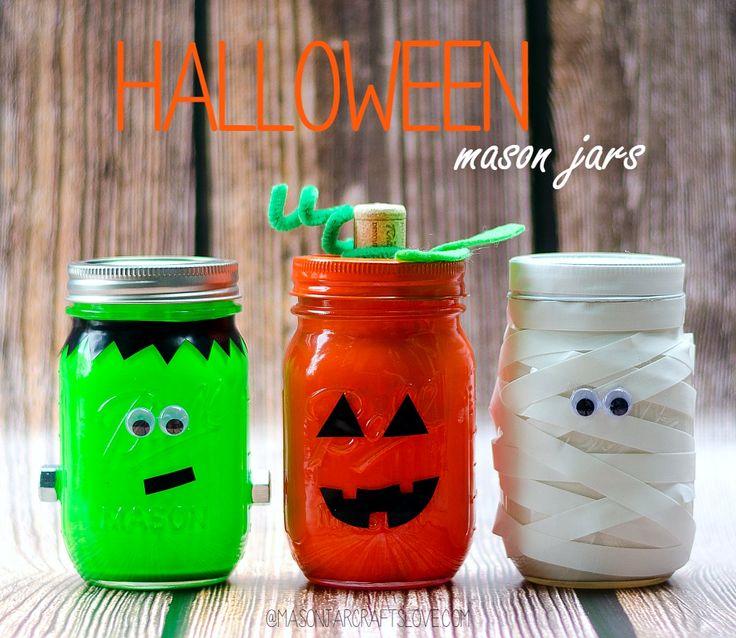 halloween mason jars - Diy Halloween Decorations Indoor