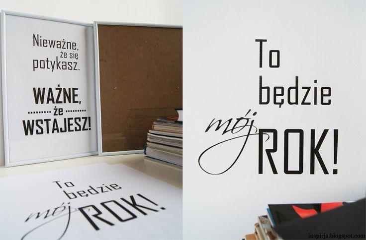 Inspirja: Noworoczne propozycje plakatów do Twojego wnętrza – #7