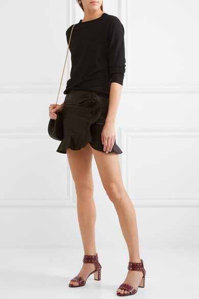 Jimmy Choo - Veto Studded Leather Sandals - Claret - IT37.5