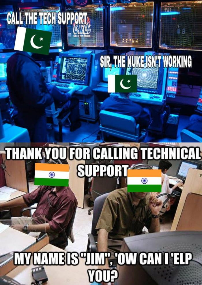 Indian Tech Support Tech Support Supportive Funny