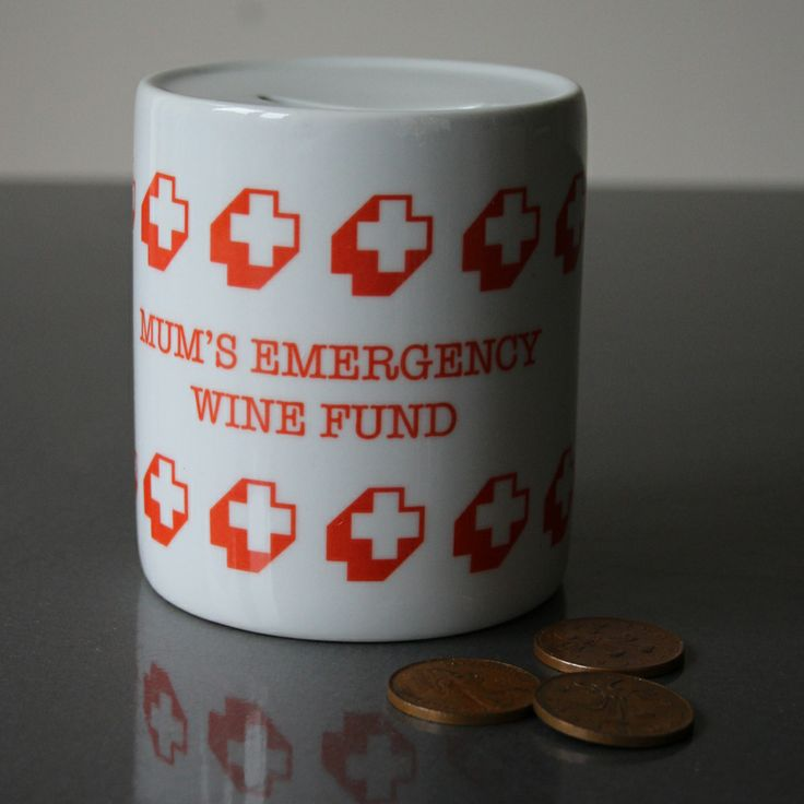 Pearl and Earl - Custom Emergency Fund Money Box, £15.00 (http://www.pearlandearl.co.uk/custom-emergency-fund-money-box/)