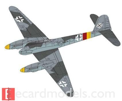1/200 (and 1/144) Me-410 Hornisse Profile Paper Model