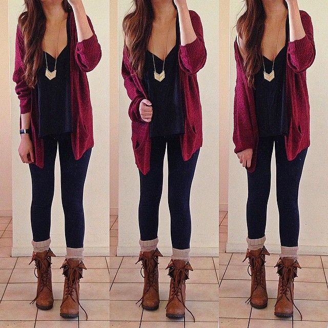 Wine Red Long Sleeve Pockets Cable Knit Cardigan, whst a beautiful color. Saquito tejido mangas largas rojo vino, que hermoso color!