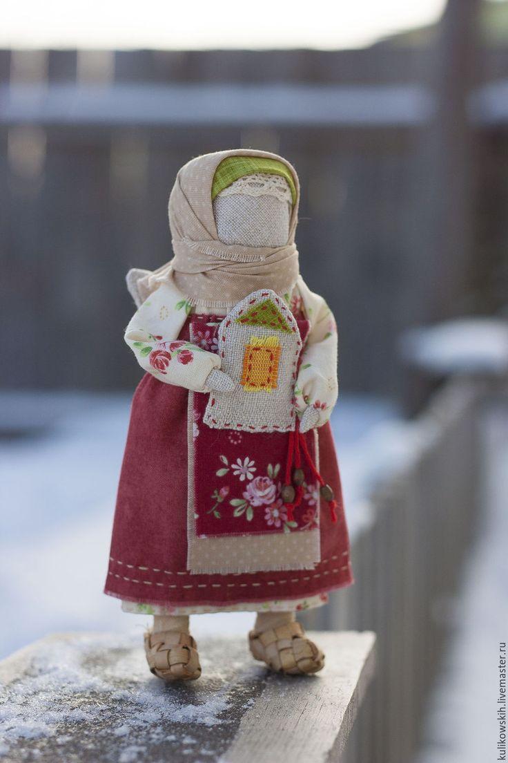 Купить Кукла Ангел Домашний - бордовый, сливочный, бежевый, зеленый, дом, хранитель дома