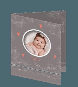 Foto geboortekaart meisje winter baby