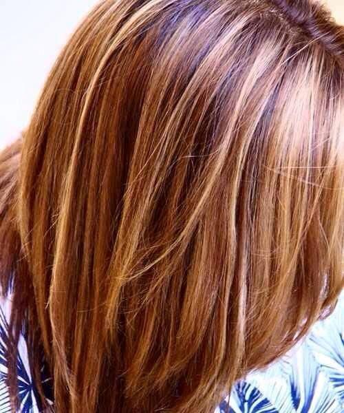 Best 25 brown hair red highlights ideas on pinterest brown hair double highlights blonde and honey highlights in darkbrown hair june 2013 by bertha pmusecretfo Gallery