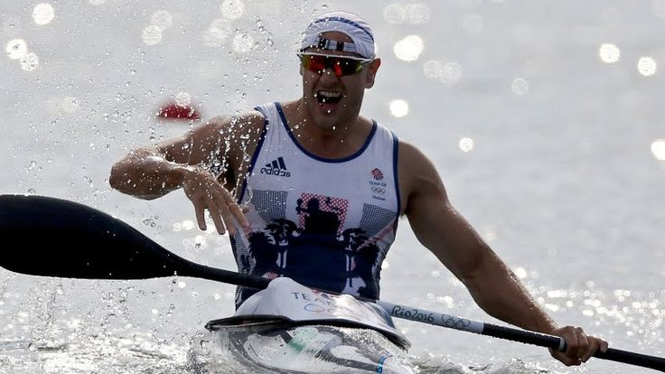 Liam Heath wins gold in the men's individual kayak 200m event