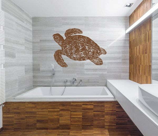 kik2449 Wall Decal Sticker sea turtle living room bedroom bathroom