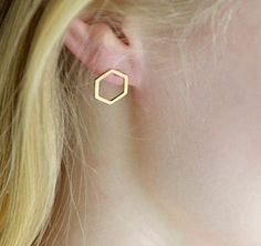 geometrie Ohrringe, sechseck Ohrstecker, geometrie von Superarmband auf DaWanda.com