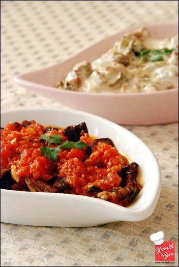 Soslu Patlıcan & Yoğurtlu Kabak