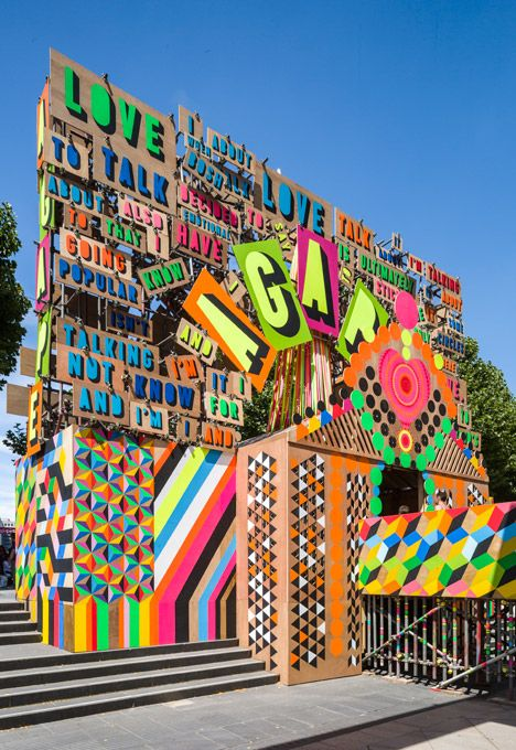 This inspires me greatly. Yum. Studio Myerscough. Festival of Love. Southbank.