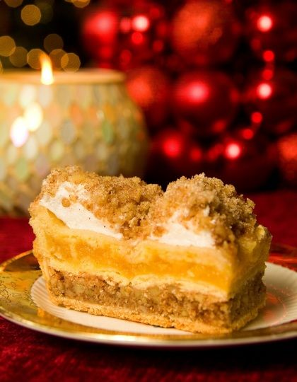 The Russian Torte is a much beloved Pennsylvania tradition. At weddings, not only is cake served, but each table at the reception is heaped with luscious cookies made by family and friends. Each cookie is the family's favorite and is then shared by all who attend. -