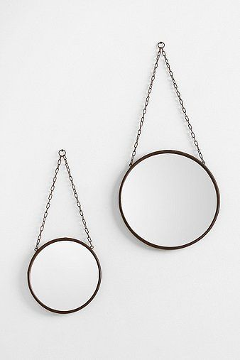 Industrial Wall Mirror. maybe these on the big wall in my room? there is just so much space